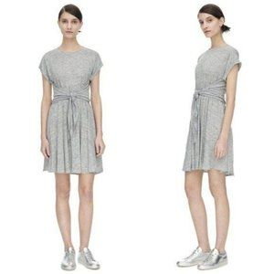 Rebecca Taylor Linen Jersey T-Shirt Dress Tee Slub